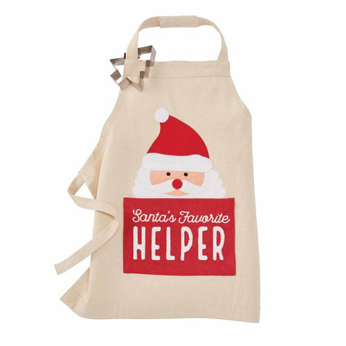 KIDS SANTA CHRISTMAS APRON SET