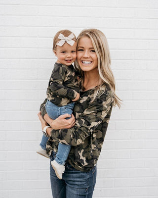 Shauna Mommy & Me Long Sleeve-Camo
