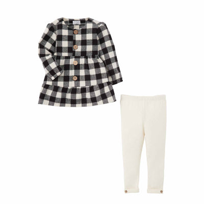 Black Check Tunic Legging Set