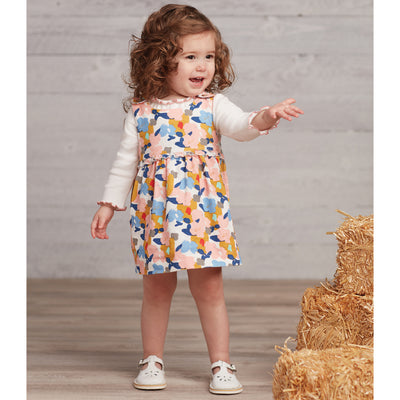 Floral Corduroy Dress Set