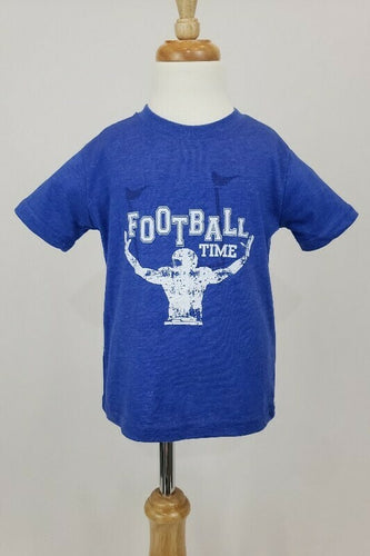 Blue Football Time Kids Shirt