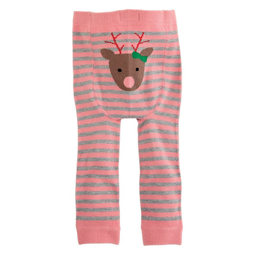 Pink Reindeer Knitted Leggings