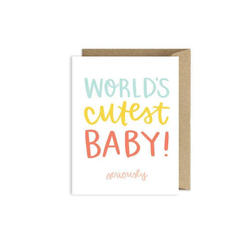 Greeting Card-World's Cutest Baby