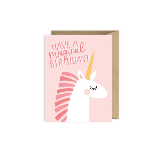 Greeting Card- Magical Unicorn Birthday