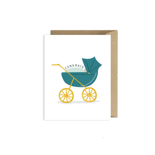 Greeting Card- Congratulations Baby Carriage