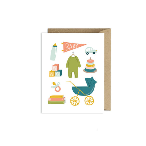 Greeting Card- Baby Toys Congratulations Card