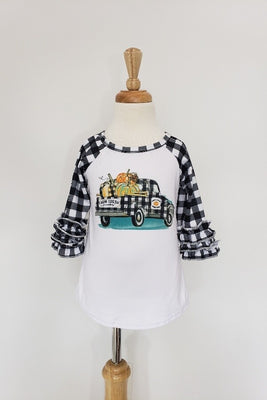 Black Plaid Farm Fresh Pumpkin Shirt