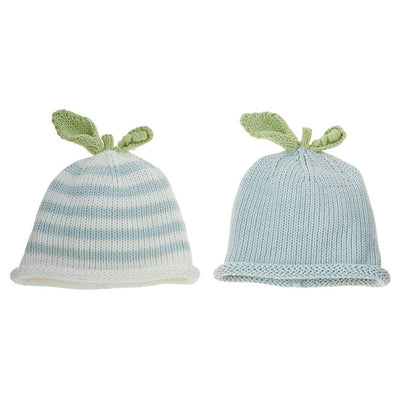 Blue Pea Knit Hat