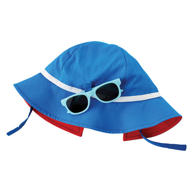 Blue Sun Hat and Glasses