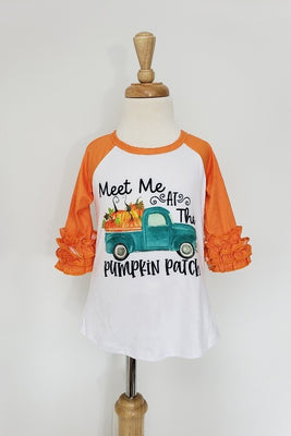 Meet Me Pumpkin Patch Raglan Tee
