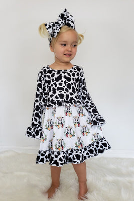 Cow Print Girl Dress