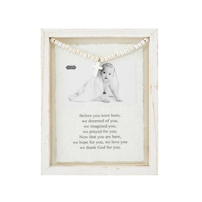 Baby Prayer Glass Frame