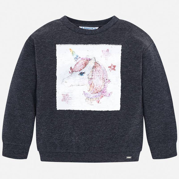 Mayoral Unicorn Sequin Sweatshirt