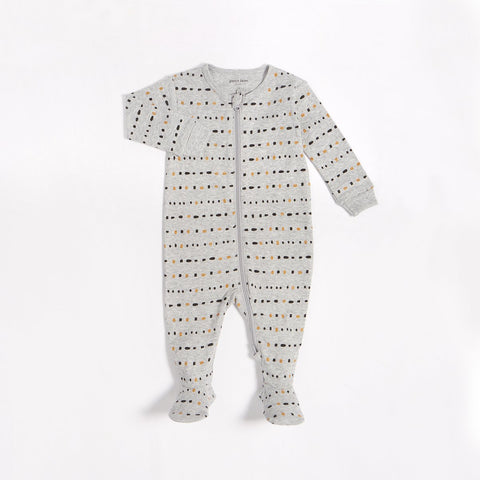 """Dotted Lines"" Sleeper with Organic Cotton"