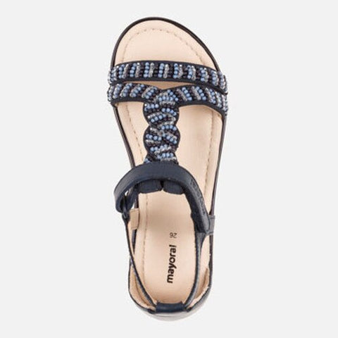 Leather Sandals-Navy-Mayoral