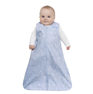 Halo Sleepsack Wearable Blanket - Blue Woodland Cotton