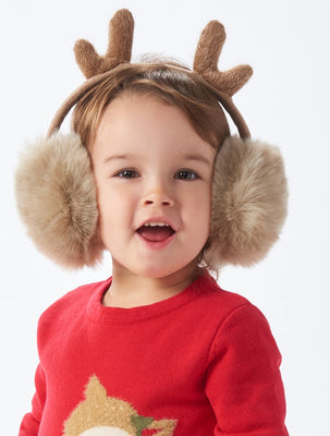 Reindeer Faux Fur Ear Muffs