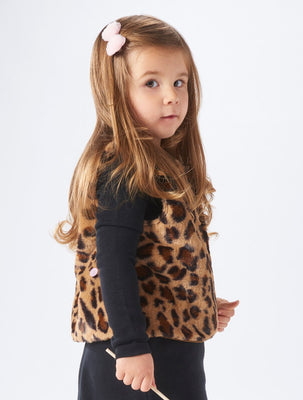 Animal Print Faux Fur Vest