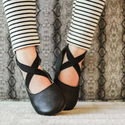 Mommy Ballet Flats- Black