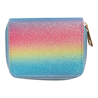 Mila and Rose Wallet- Neon Rainbow Glitter