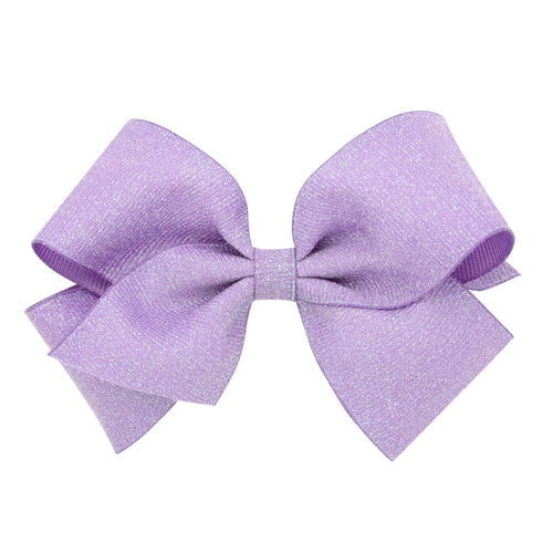 Large Wee Sparkle Basic Bow- Light Orchid