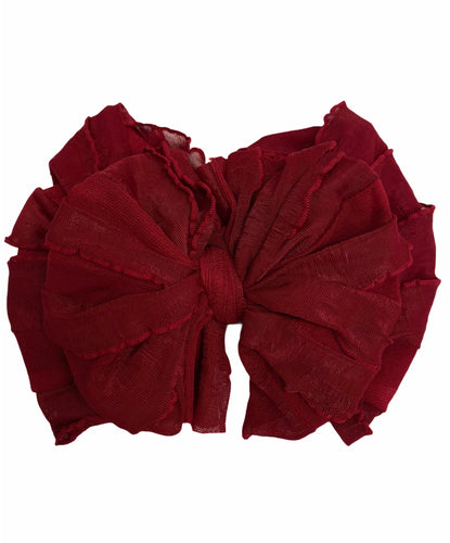 In Awe Couture Headband- Deep Red