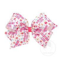 King Birthday Girl Bow