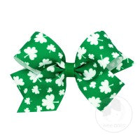 King Shamrock Print Bow