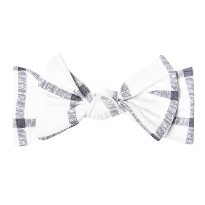 Knit Headband Bow- Ledger