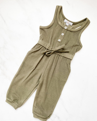 Anika Child Jumpsuit- Hunter Green