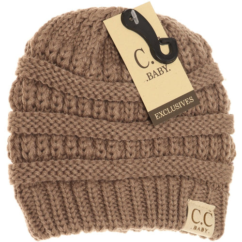 Baby Solid CC Beanie-Taupe