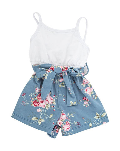 Betty Camisole Romper - Blue Bell Floral