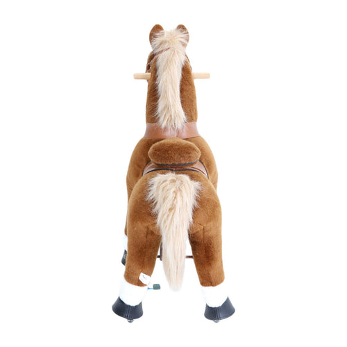 Brown Horse with White Hooves, Small (Ages 3-5)