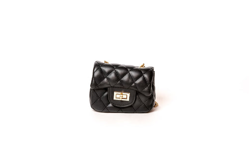 Quilted Purse-Black