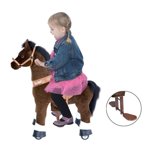 Dark Brown Horse with White Hooves, Small (Ages 3-5)
