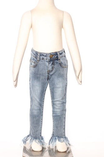 Shaggy Bottom Jeans-Light Wash