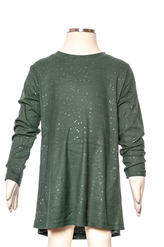 Emerald Sparkly Ribbed Tunic
