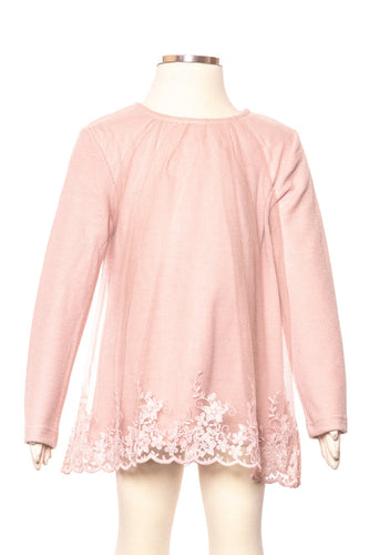 Blush Lace Overlay Tunic