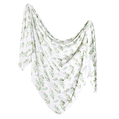 Knit Swaddle Blanket - Fern
