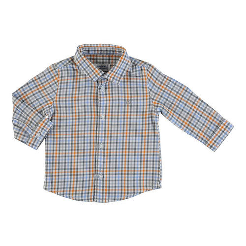 Long Sleeve Checker Button Down