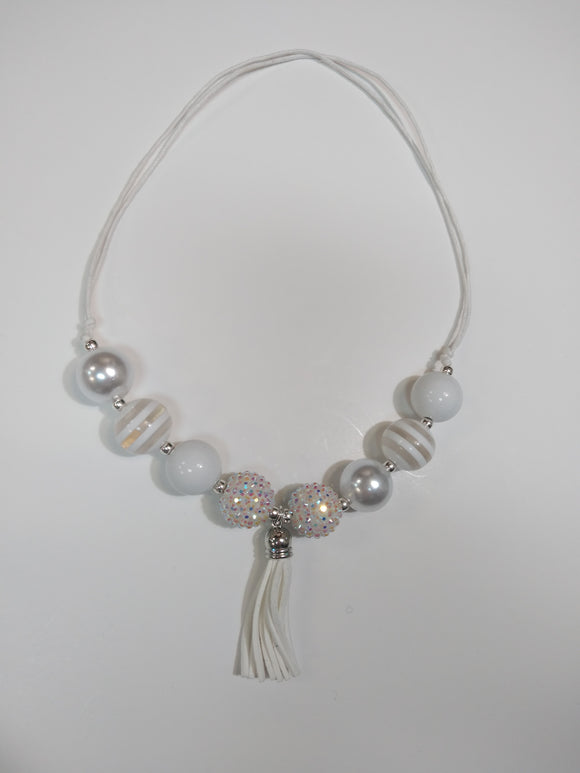 White Sparkle Bubble Necklace