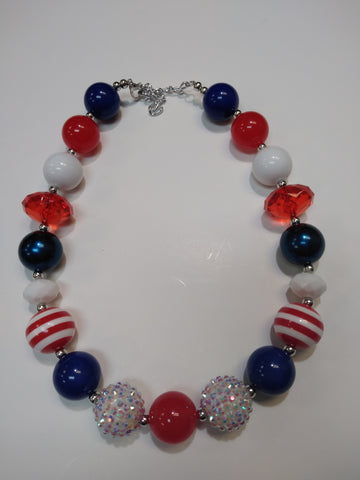 Stars and Stripes Bubble Necklace