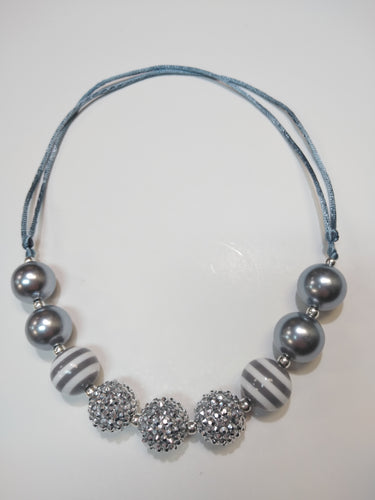 Silver Sparkle Bubble Necklace