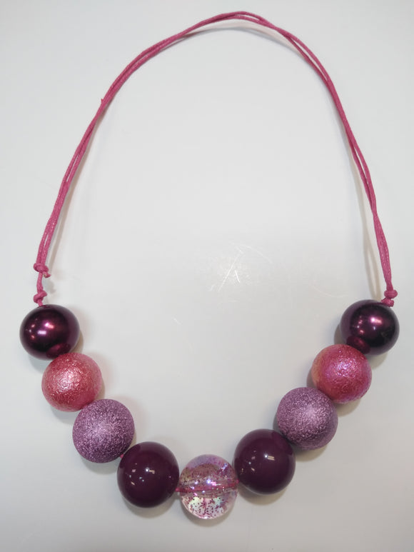 Black Cherry Bubble Necklace
