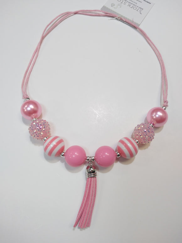 Pink Sparkle Bubble Necklace