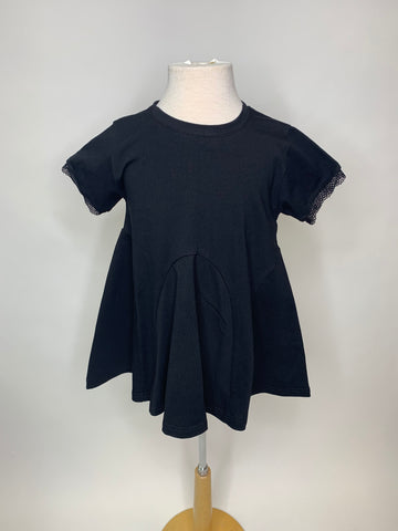 Black Solid Flare Top