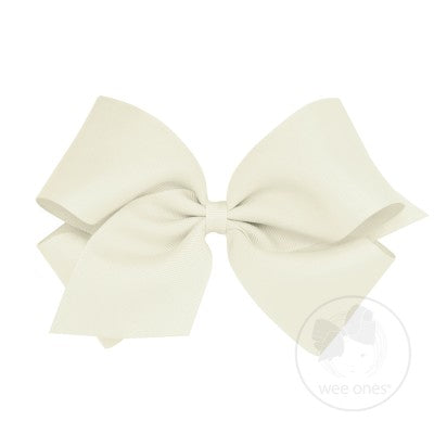King Classic Grosgrain Bow- Antique White