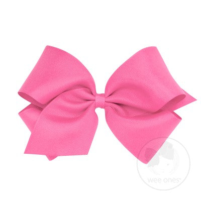 King Classic Grosgrain Bow- Hot Pink