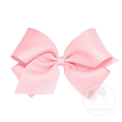 King Classic Grosgrain Bow- Light Pink