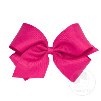 King Classic Grosgrain Bow- Shocking Pink
